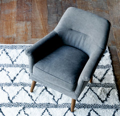 Fabric Armchair | Perry - Dark Grey