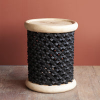 Side Table | Bamileke Stool - Black-Natural - Originals Furniture