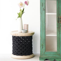Side Table | Bamileke Stool - Black-Natural
