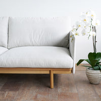Fabric 2 Seater Sofa | Pensive - Pearl - Originals Furniture