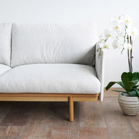 Fabric 3 Seater Sofa | Pensive - Pearl