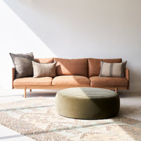 Leather 3.5 Seater Sofa | Pensive - Canyon