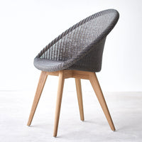Dining Chair Teak | Jack - Dark Grey Wash