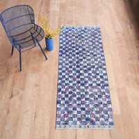 Anatolian Rug | Sapphire and Red W81 x L224 cm