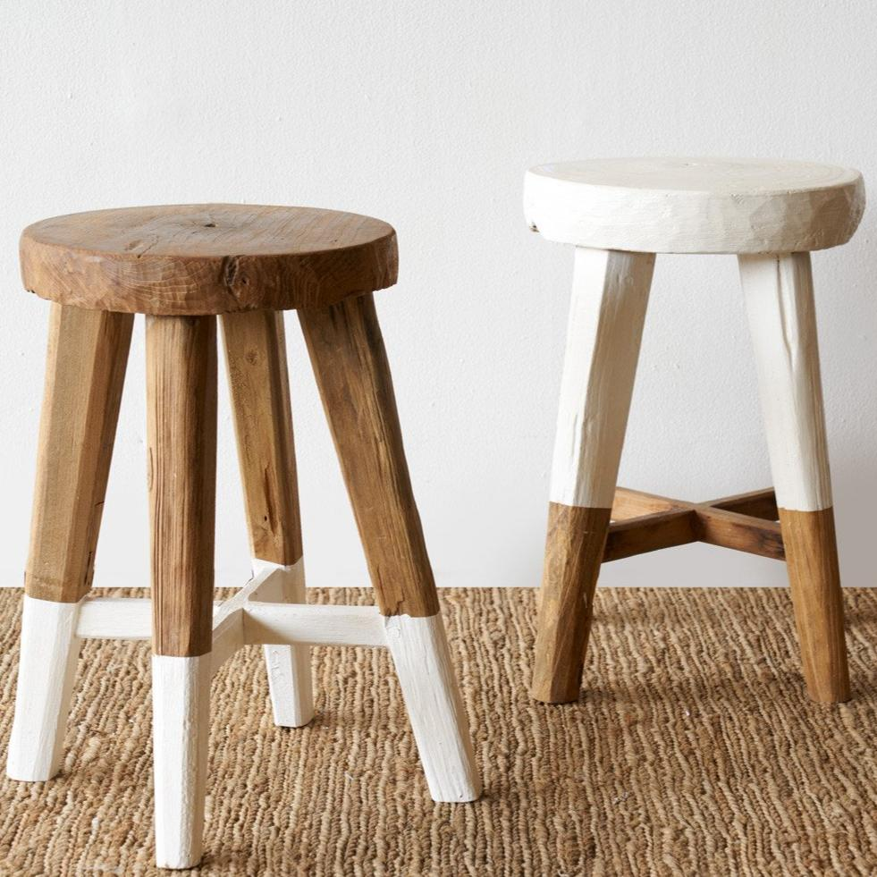 Miraculous Java Round Stool White Pabps2019 Chair Design Images Pabps2019Com