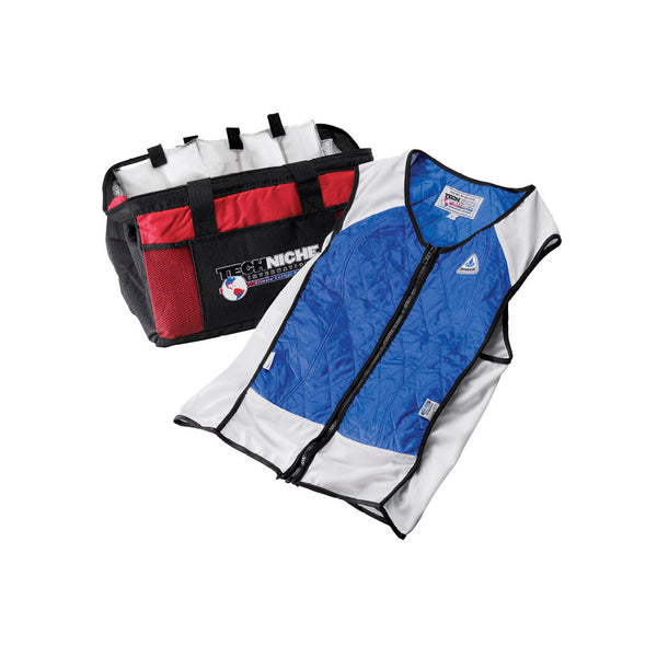 Hybrid cooling sport vest with cooling bag