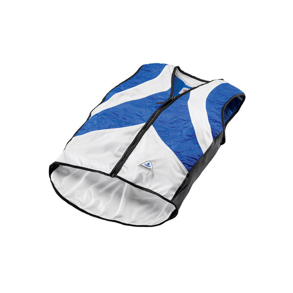 HyperKewl™ Evaporative Cooling VELO Cycling Vest - blue and white