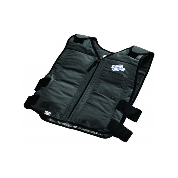 TECHKEWL™ Phase Change Cooling Vest, Style: Front Zipper - black