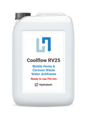 CoolFlow RV25 -  Ready-To-Use Caravan & Mobile Home Wastewater AntifreezeCaravan waste water system antifreeze-hydratech