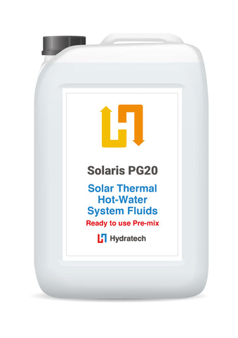 Solaris PG20 - Ready-To-Use Propylene Glycol Solar FluidSolar Thermal Fluid with Antifreeze-hydratech