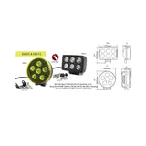 Lampe 6 LEDs - Projecteur || 6 LED Lamp - Projector