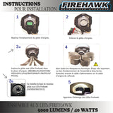 ENSEMBLE DE LUMIÈRES AUX LEDs FIREHAWK P13W || SET OF LED LIGHTS FIREHAWK P13W