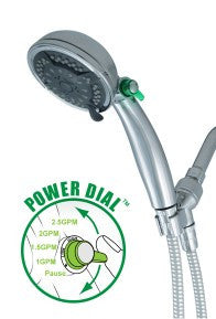 Green Choice Power Shower: Chrome Handheld