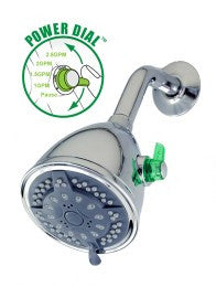 Green Choice™ Power Shower: Chrome Wall Unit