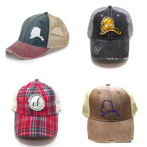 Alaska Trucker hat collage