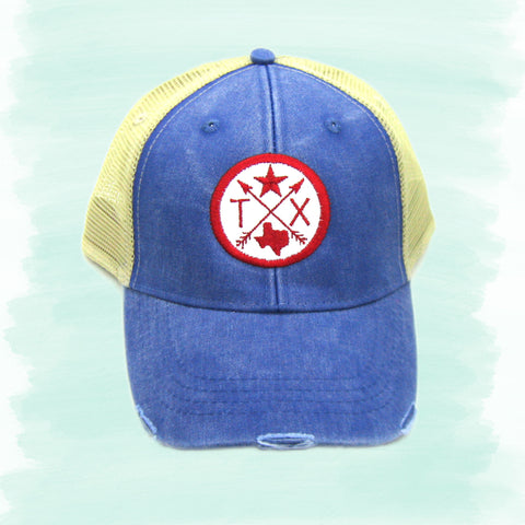Compass Arrow Trucker Hats