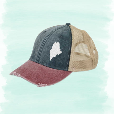 State Off-Center Trucker Hats