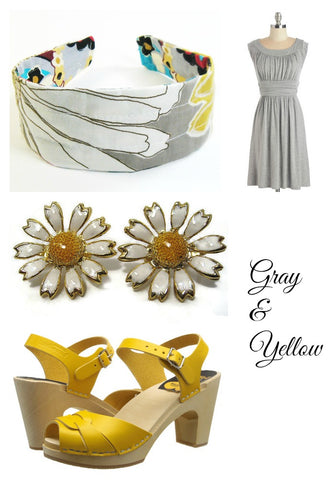 gracie designs yellow and gray