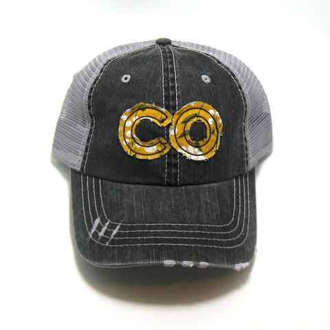 Colorado Distressed Trucker Hat - Many Fabric/Cap Combos
