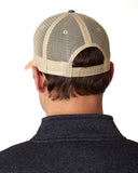 Connecticut Trucker Hat - Distressed Snapback -off-center state