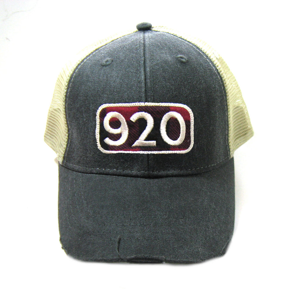 920 Area Code Trucker Hat - Distressed Snapback