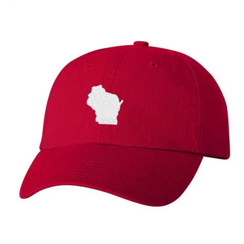 Wisconsin Hat - Classic Dad Hat - Many Color Combinations