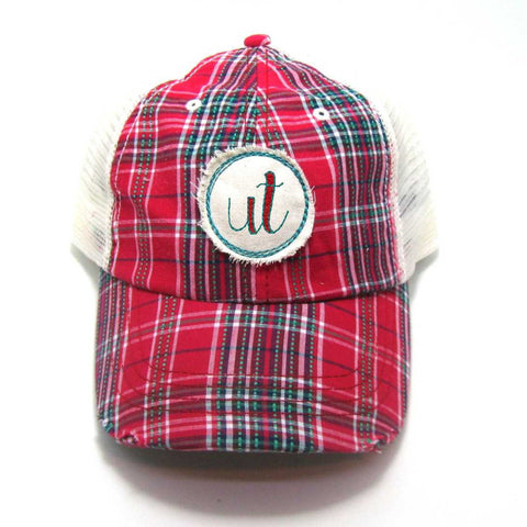 Utah Hat - Plaid Trucker with UT Distressed Patch