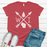 Wisconsin Arrows T-Shirt - Heather Red - ready to ship