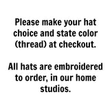 Rhode Island Hat - Distressed Snapback Trucker Hat - off-center state pride hat - Pick your colors