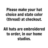 Rhode Island Hat - Distressed Snapback Trucker Hat - Rhode Island State Outline - Many Colors Available