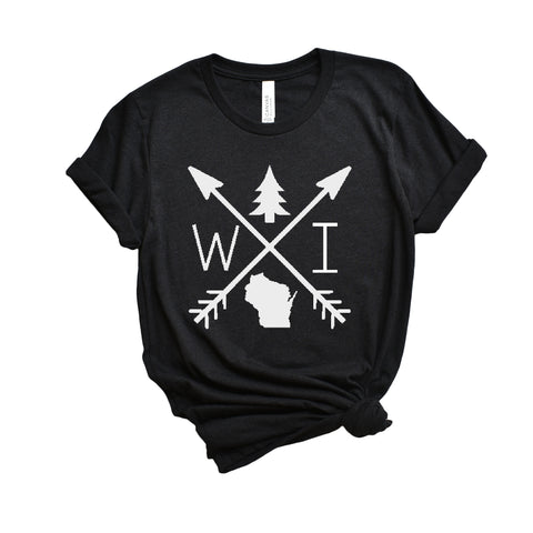 Wisconsin Arrows T-Shirt - Heather Black - ready to ship