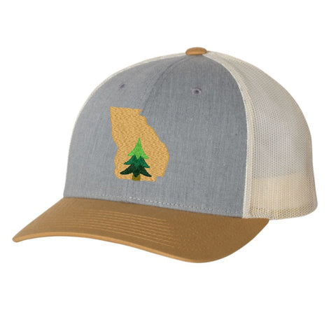 Georgia Pine Tree Hat - Mustard and Gray