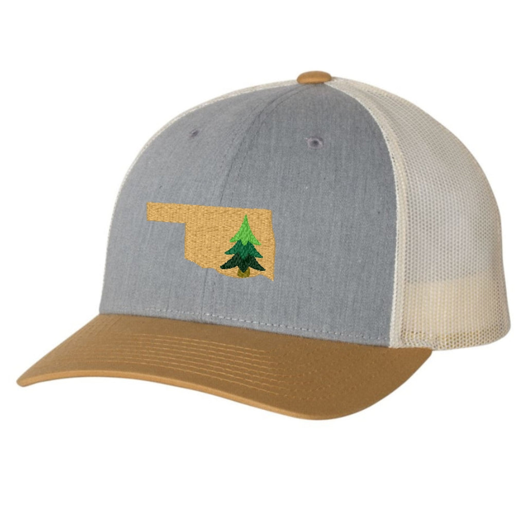 Oklahoma Pine Tree Hat - Mustard and Gray