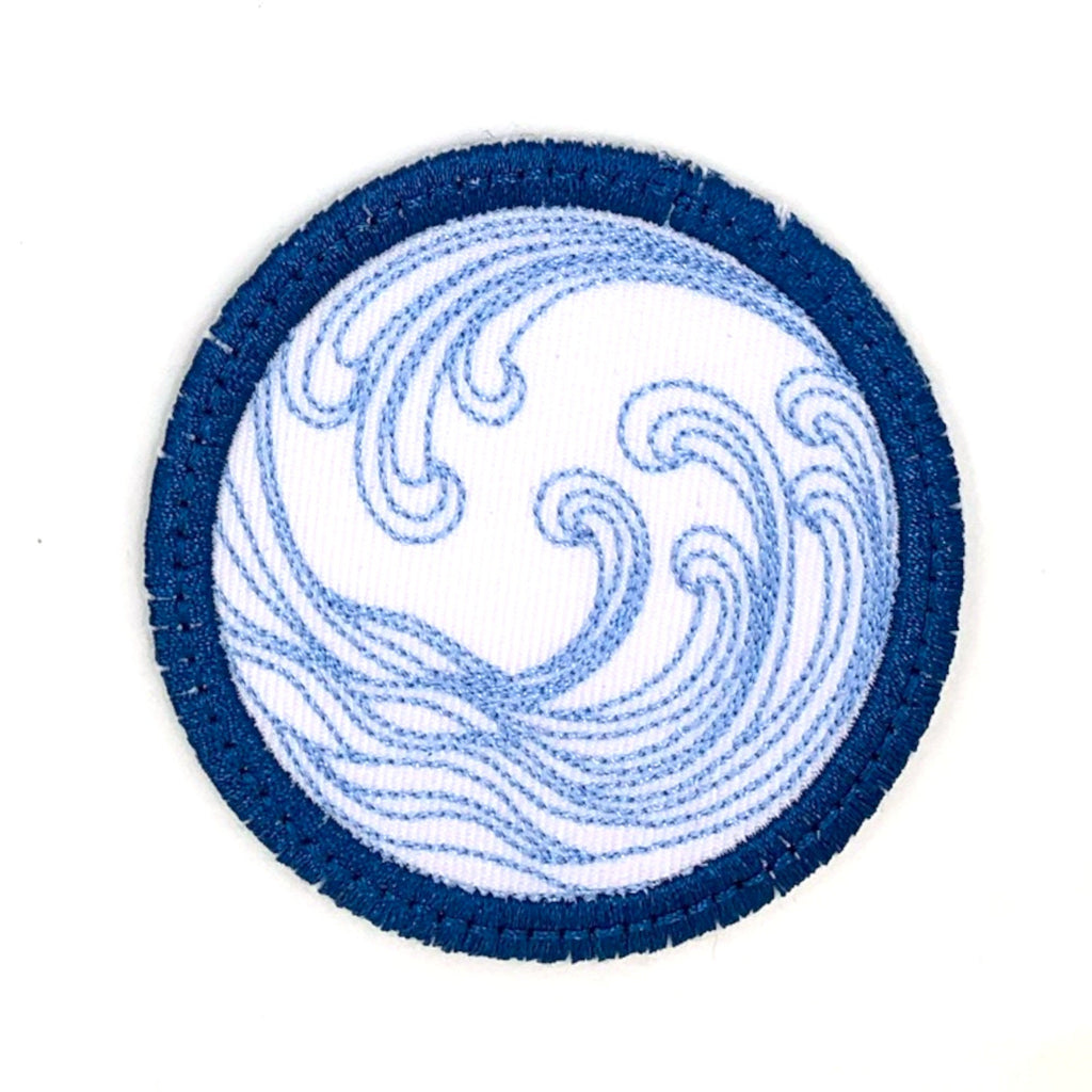 Wave Iron-on Patch