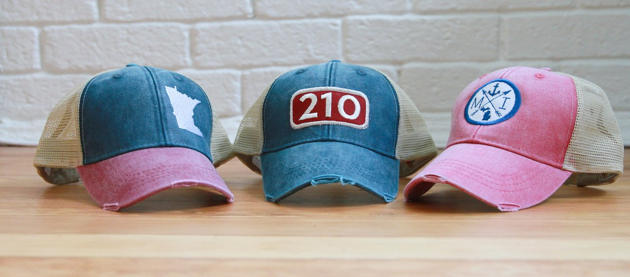 gracie designs trucker hats