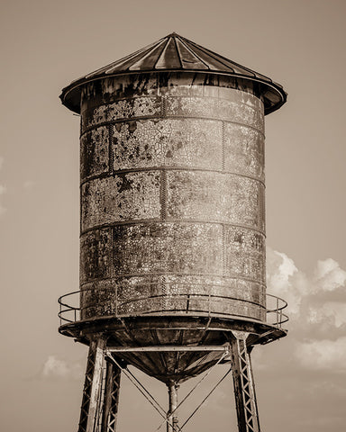 Water Tower Sepia