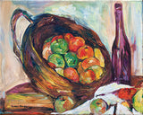 Fruit Basket and Wine by Julie Tucker-Demps