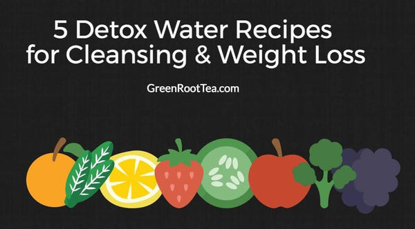 Infographic: 5 Detox Water Recipes for Cleansing & Weight Loss