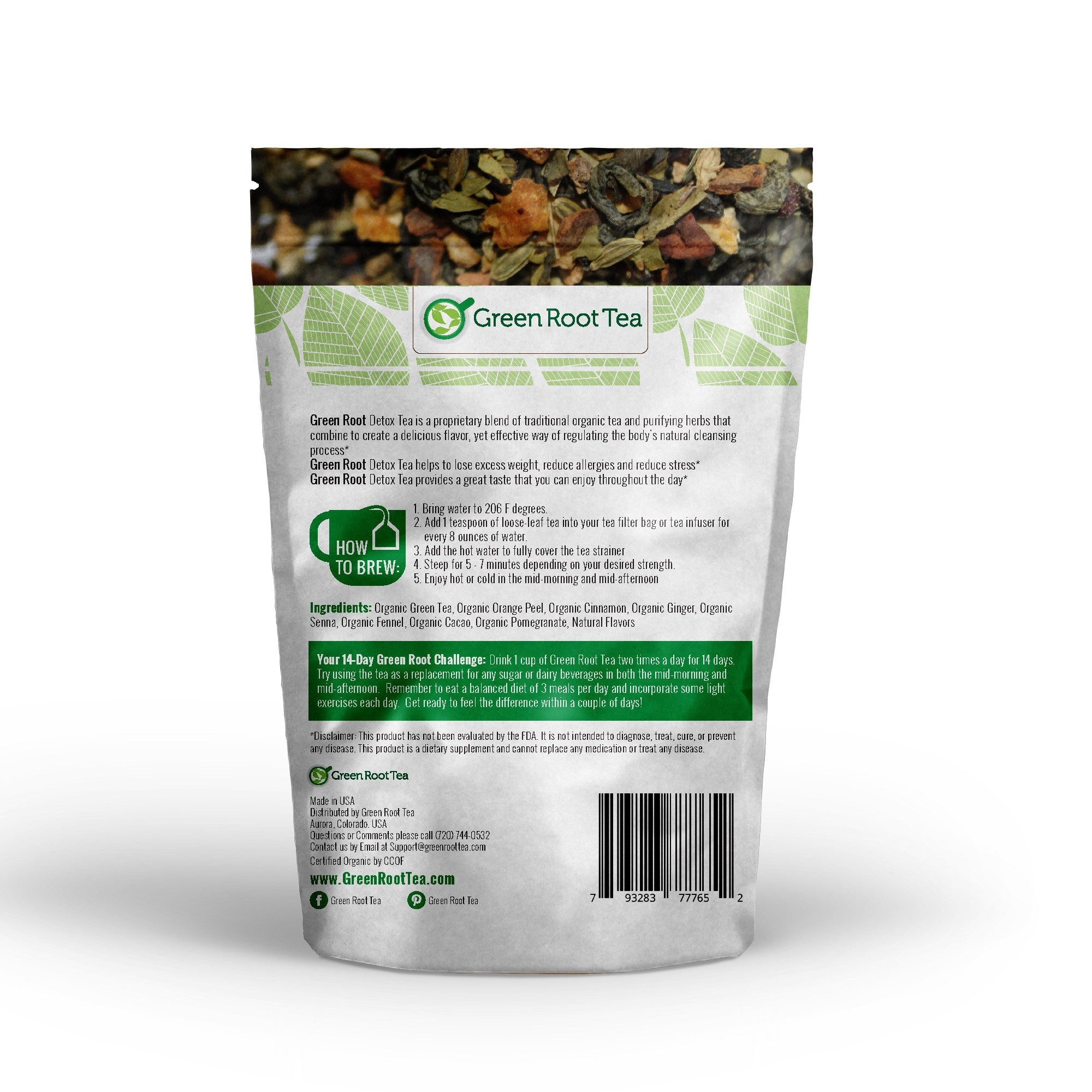... Organic Detox Tea - Green Tea Herbal Cleanse - Green Root Wellness - 4  ...