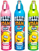 FOZZI's Bath Foam Aerosol for Kids, Brilliant Blue, Groovy Green or Perfectly Pink, Good Clean Fun, 11.49 ounces (340ml) Each (Pack of 3) (Free Shipping)