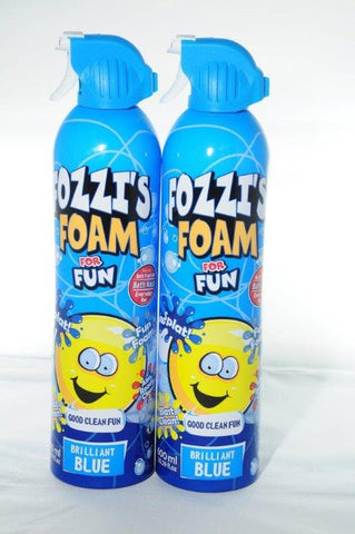 FOZZI's Bath Foam Aerosol Soap for Kids, Brilliant Blue, Groovy Green or Perfectly Pink Good Clean Fun, 18.59 oz (550ml) Each Pack of 2