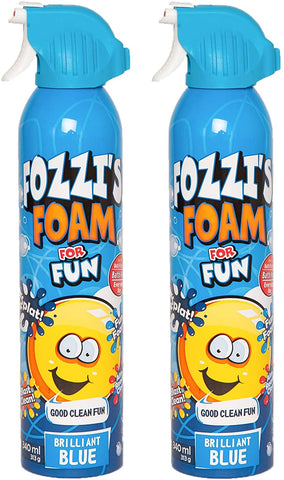 FOZZI's Bath Foam Aerosol for Kids, Brilliant Blue, Good Clean Fun, 11.04 ounces (340ml) Each (Pack of 2) (Free Shipping)