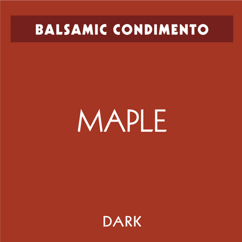 Bourbon Barrel Maple Dark Balsamic Condimento