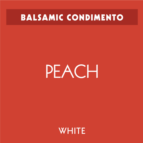 Peach White Balsamic Condimento