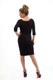 CARA COWL KNEE DRESS