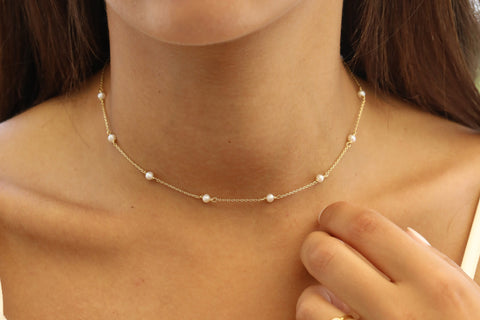 Necklace Constellation pearls
