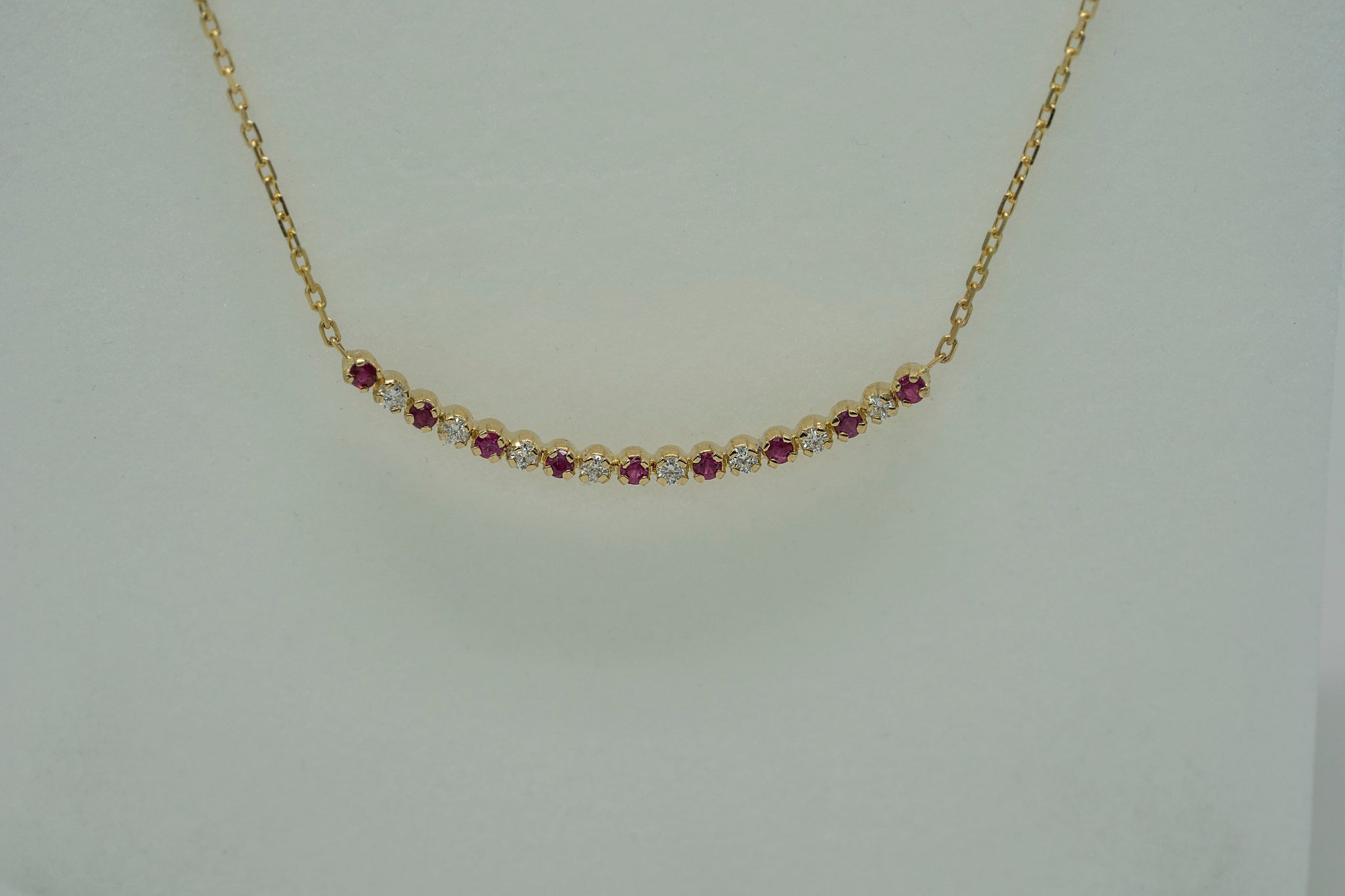 Necklace Ophelia Rubis and Diamonds