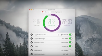 Disk Health Mac App | Interface design + Video motion graphic.