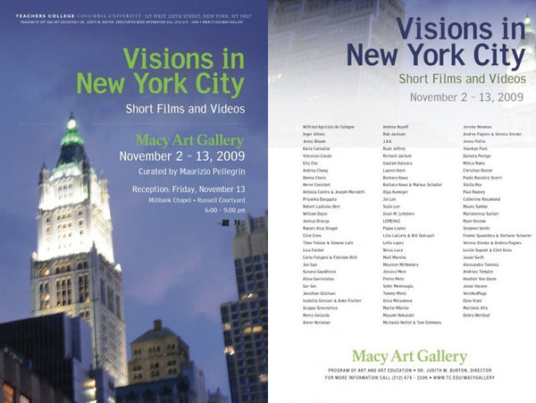 Visions In New York flyer