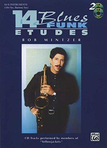 Bob Mintzer: 14 Blues And Funk Etudes For E Flat Instruments (Book/CDs)